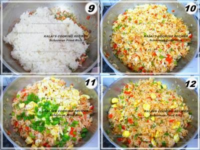 How to make schezwan egg fried rice easily at home indo chinese fried rice ccuart Image collections