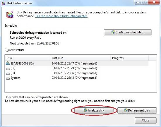Cara Menjalankan Disk Defragmenter Hard Drive Utility (Running The Defragment Hard Drive Utility)