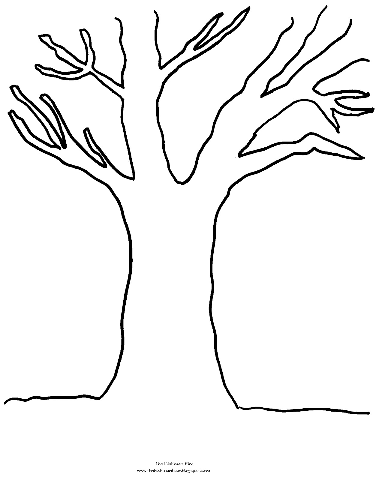 coloring pages for fall trees - photo#7