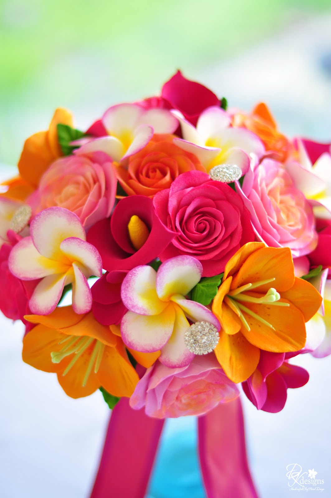 Tropical Wedding Bouquet for a Destination Maui Wedding - DK Designs