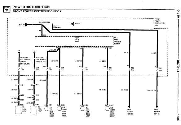 Bmw Wiring Diagrams E32 : Bmw i il electrical troubleshooting