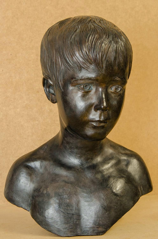 Retrato escultura barro cocido 9