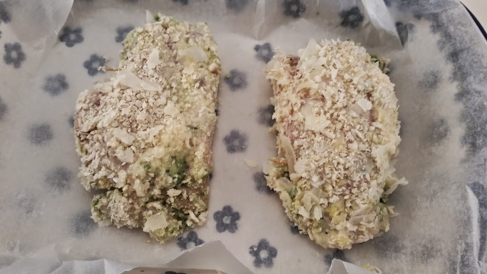 Pesto Stuffed Chicken Thighs. Coated in panko and parmesan. Ready to bake.
