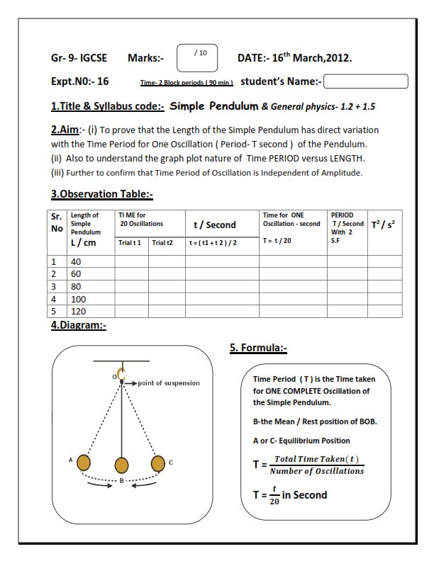 university physics lab report example