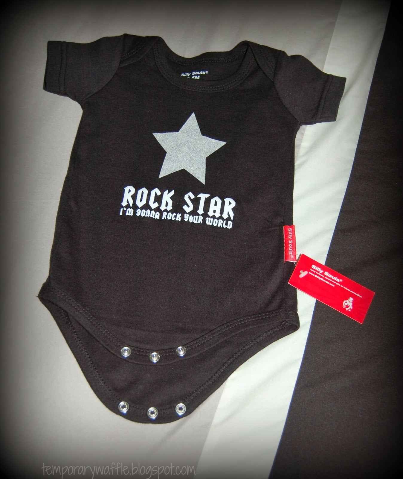 Temporary Waffle Silly Souls Rock Star Baby Bodysuit Review