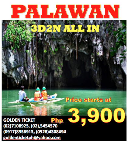 Cheap Travel Deals By Golden Ticket Palawan Puerto