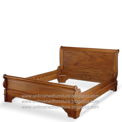 Unfinished mahogany furniture classic furniture louis for Raw wood bed frame