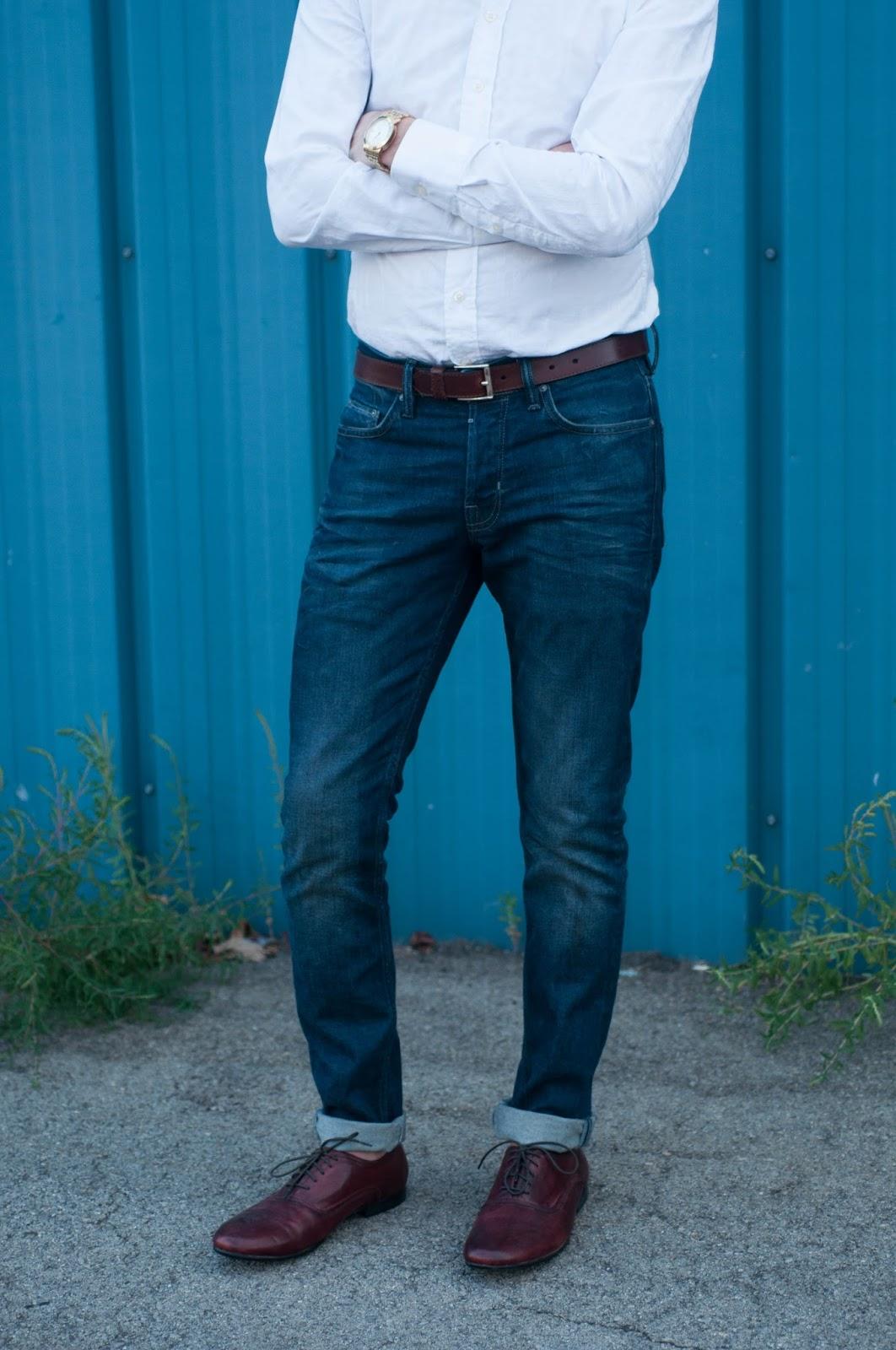 mens style blog, mens fashion blog, ootd, bed stu shoes, burberry mens shirt, all saints jeans