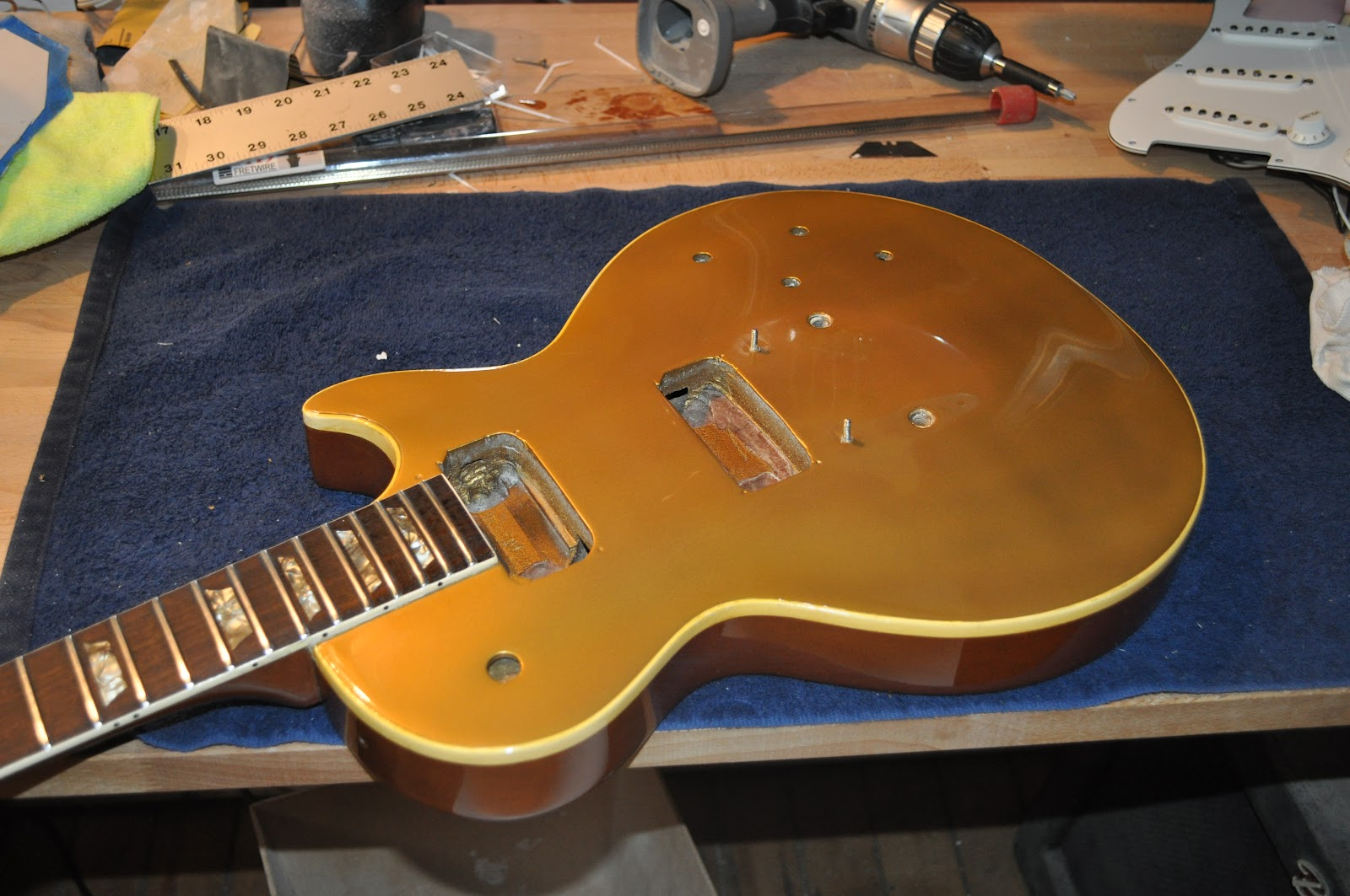 how to refinish a 1969 les paul goldtop