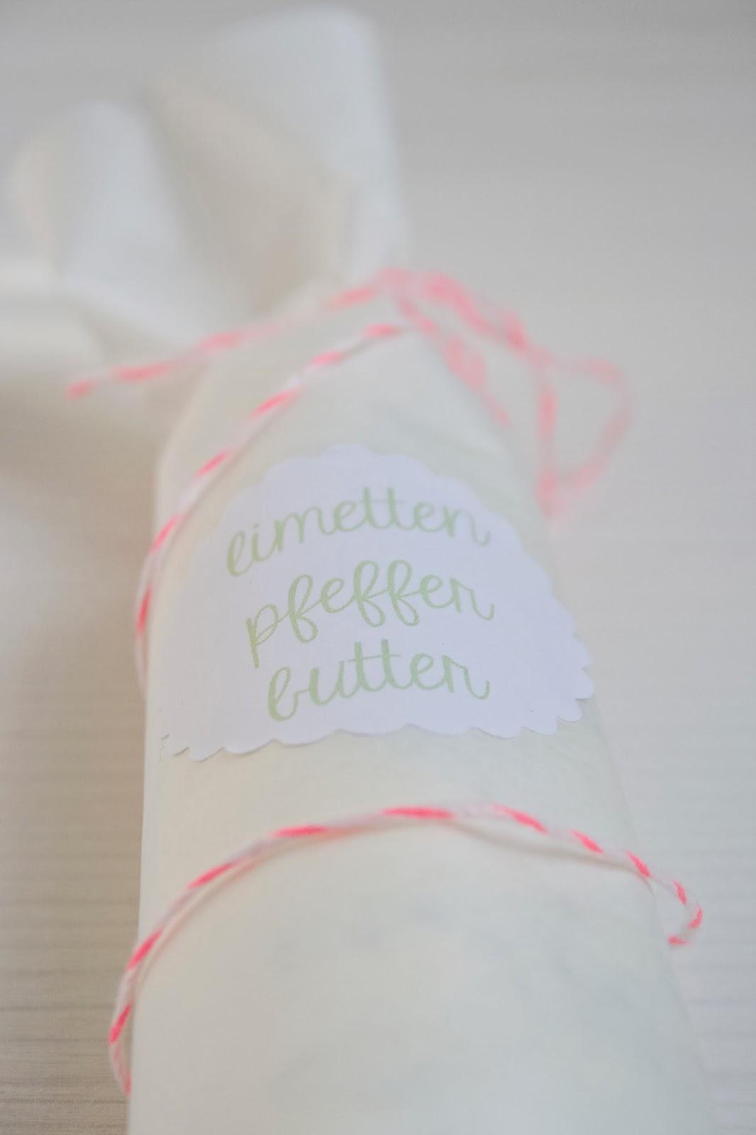 Limetten Pfeffer Butter