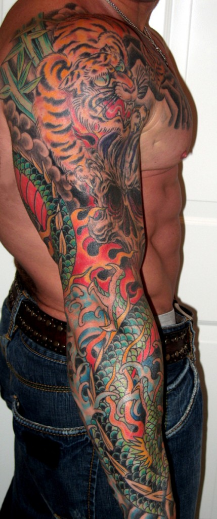 Tribal Tattoo Arm Sleeve Design
