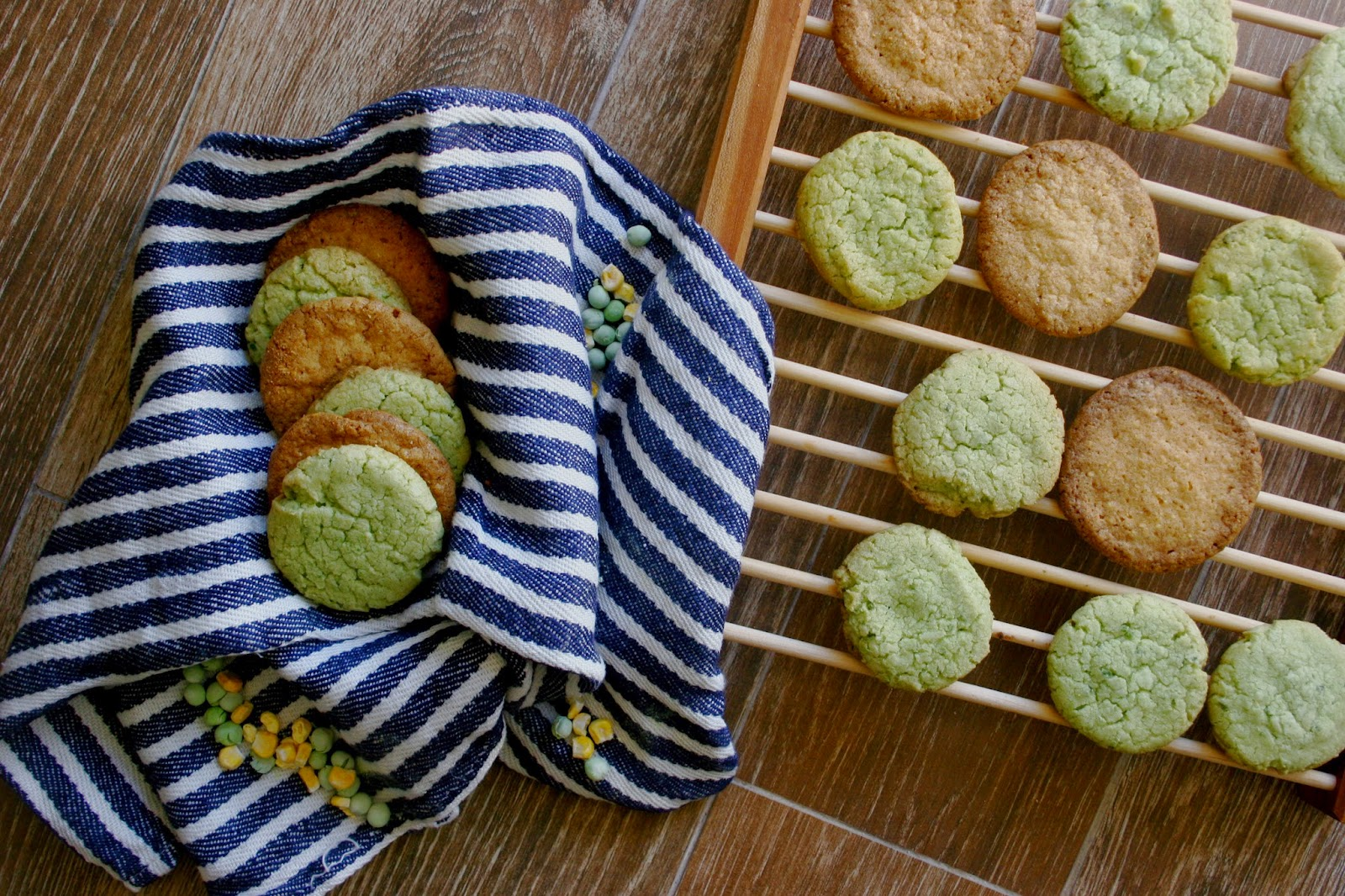 Pea & Corn Cookies