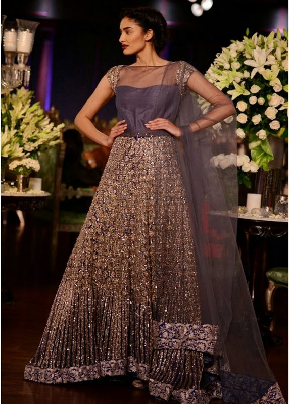 Latest Pakistani Wedding Dresses 2013 2014 For Girls Pictures Photos