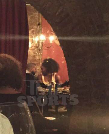 Drake and serena williams caught making out in public photos