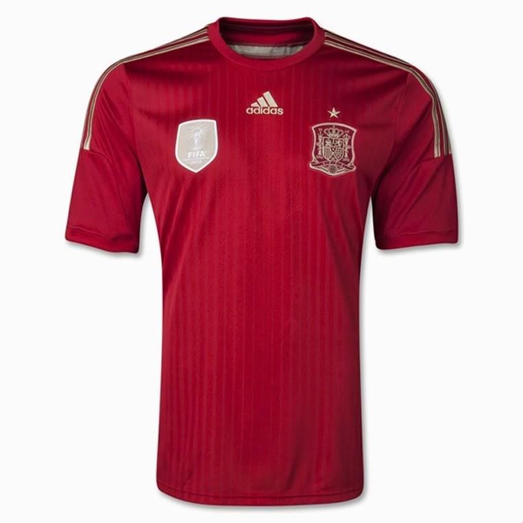 Kostum Timnas Spanyol Piala Dunia 2014
