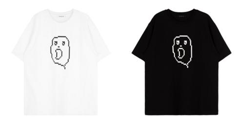 Pixel Ghost Print T-Shirt