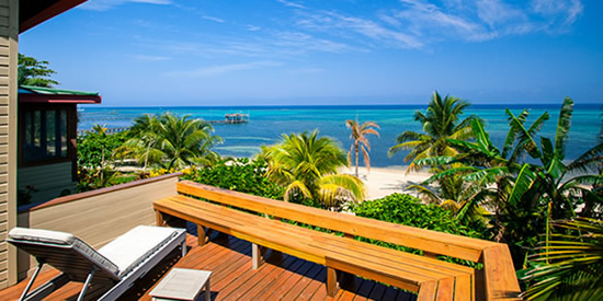 Enjoy sea views from the deck