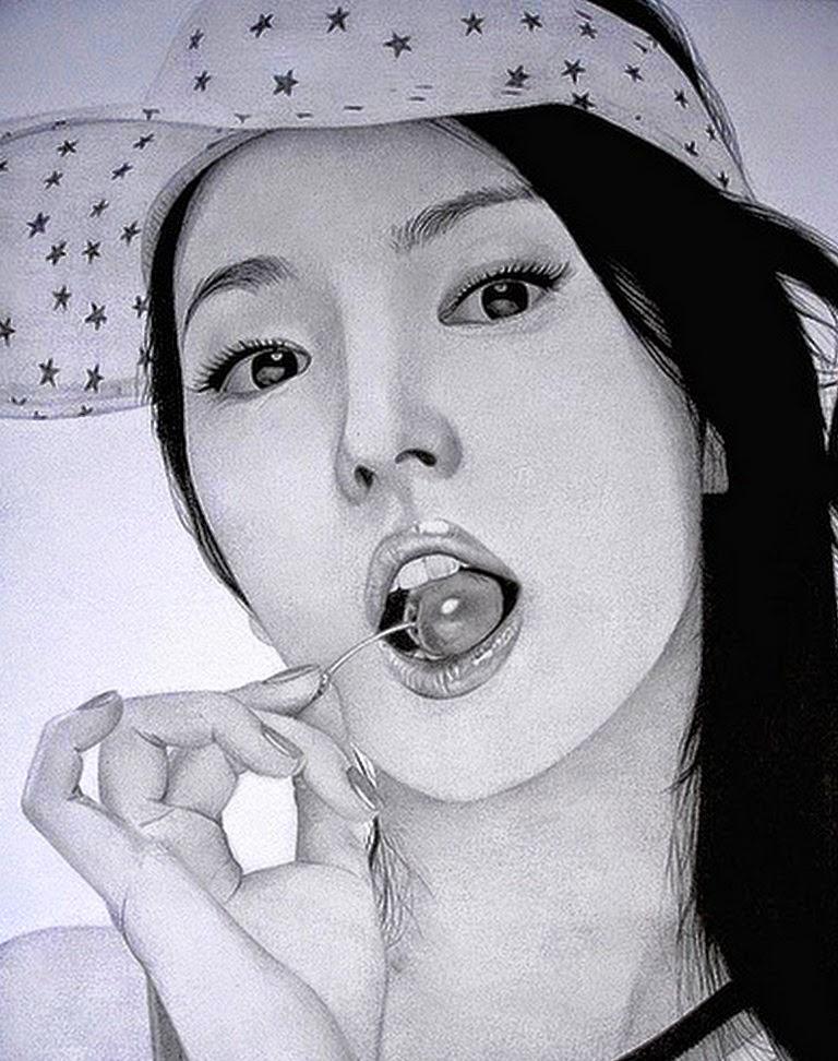 rostros-asiaticos-a-lapiz