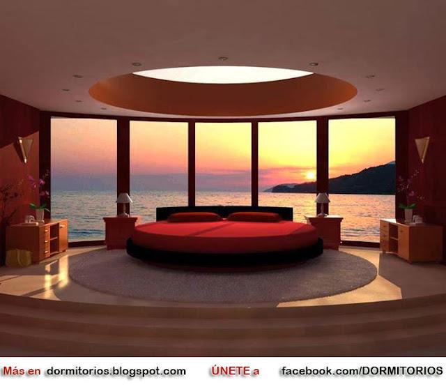 dormitorios con vista al mar