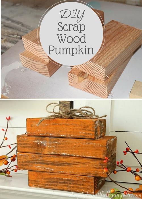 scrap wood pumpkin. Black Bedroom Furniture Sets. Home Design Ideas