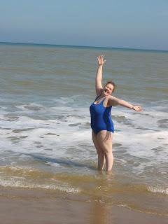 Pippa on the beach