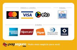 Aceitamos todos Cartões de Crédito e Débito