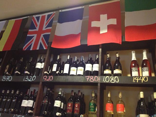 Poco Deli wine selection