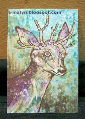 Deer sticker horns original art