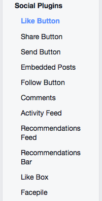 Facebok Social Plugins