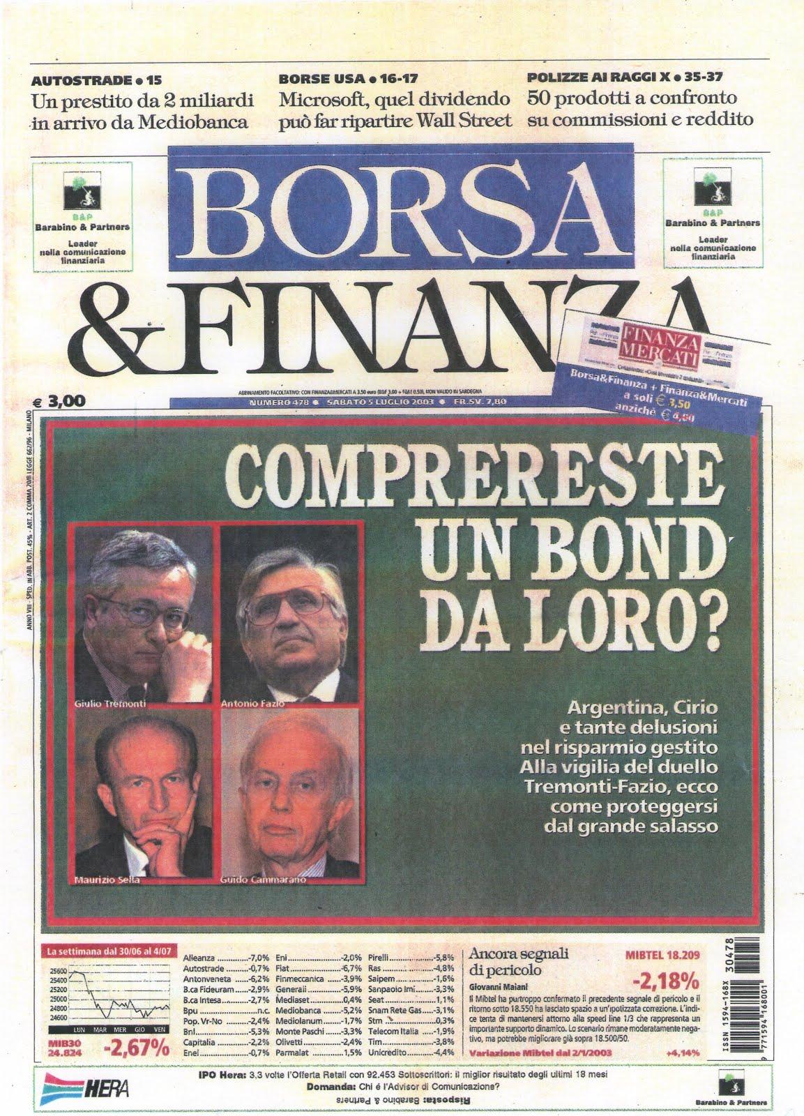 Settimanale Borsa&Finanza