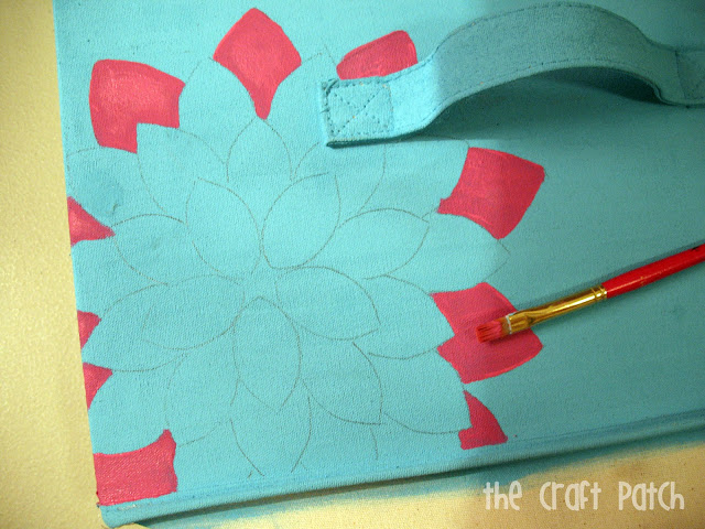 The craft patch painted canvas bins for Bathroom canvas painting ideas