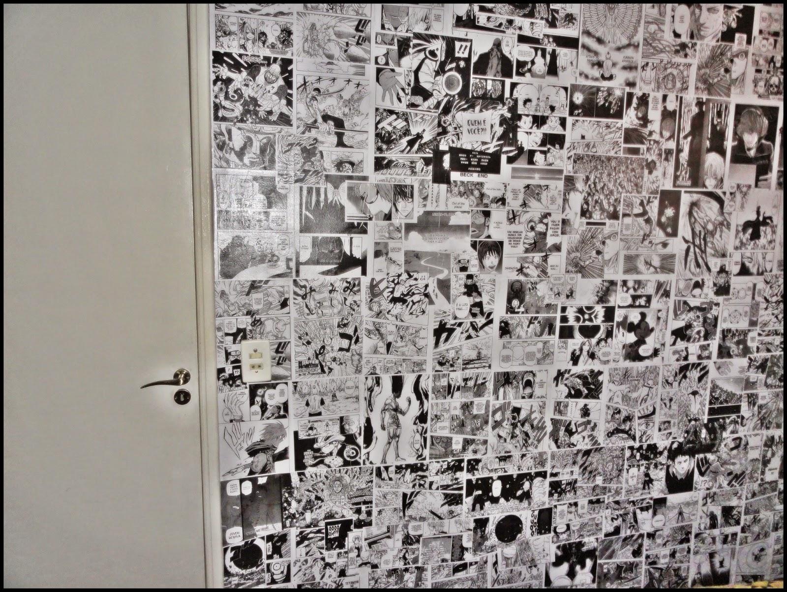 A Casa da Mãe Jana Colagem de impressão de Mangá na parede do quarto