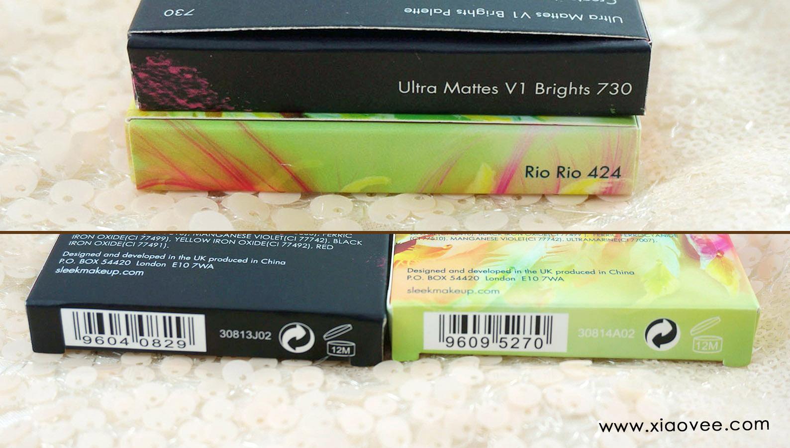 Sleek i-Divine Rio Rio, Sleek i-Divine Ultra Mattes V1 Brights Palette review