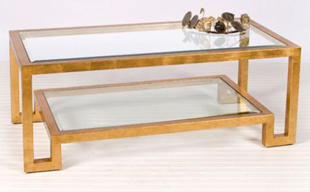 Clayton Gray Gold Leaf Winston Coffee Table