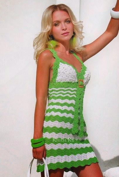 Vestidos a Crochet con Patrón Y Graficos