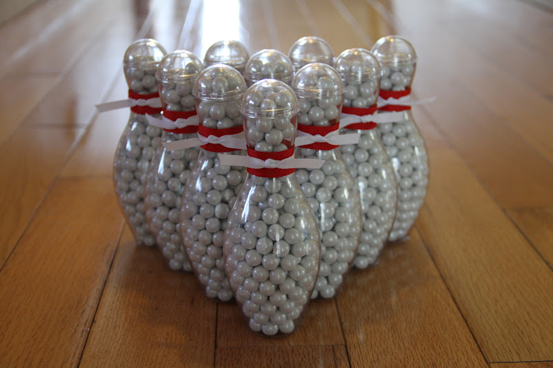 Mini Bowling Pin Candy Container Party Favor 12 Pack