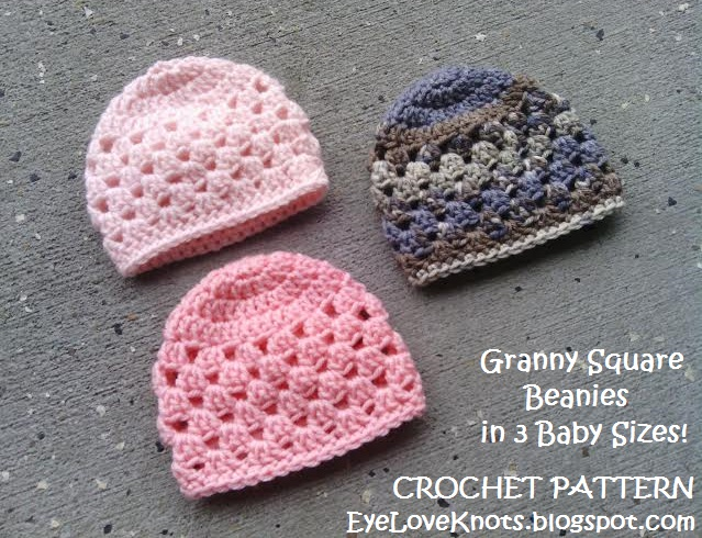 Eyeloveknots updated granny square beanie in 3 baby sizes free granny square beanie in 3 baby sizes free crochet pattern dt1010fo