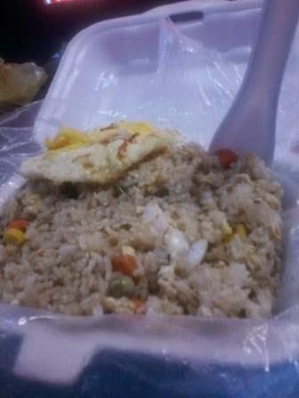 Nasi goreng seafood pedas sedap