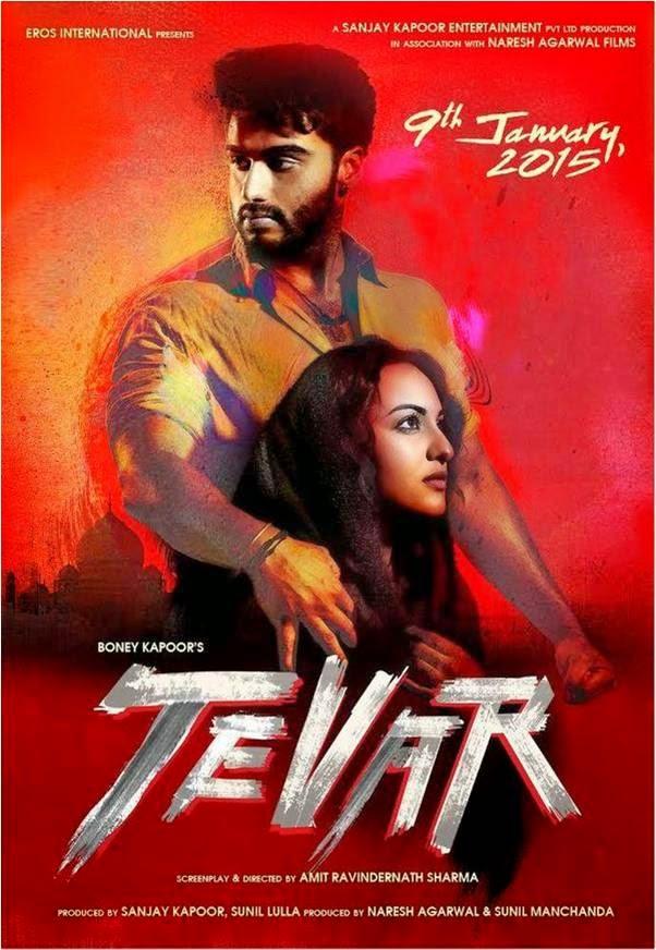 Tevar Film Poster featuring Arjun Kapoor and Sonakshi Sinha