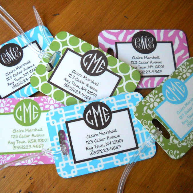Luggage Tag Wedding Favors 82 Nice Personalized Address Luggage Tags