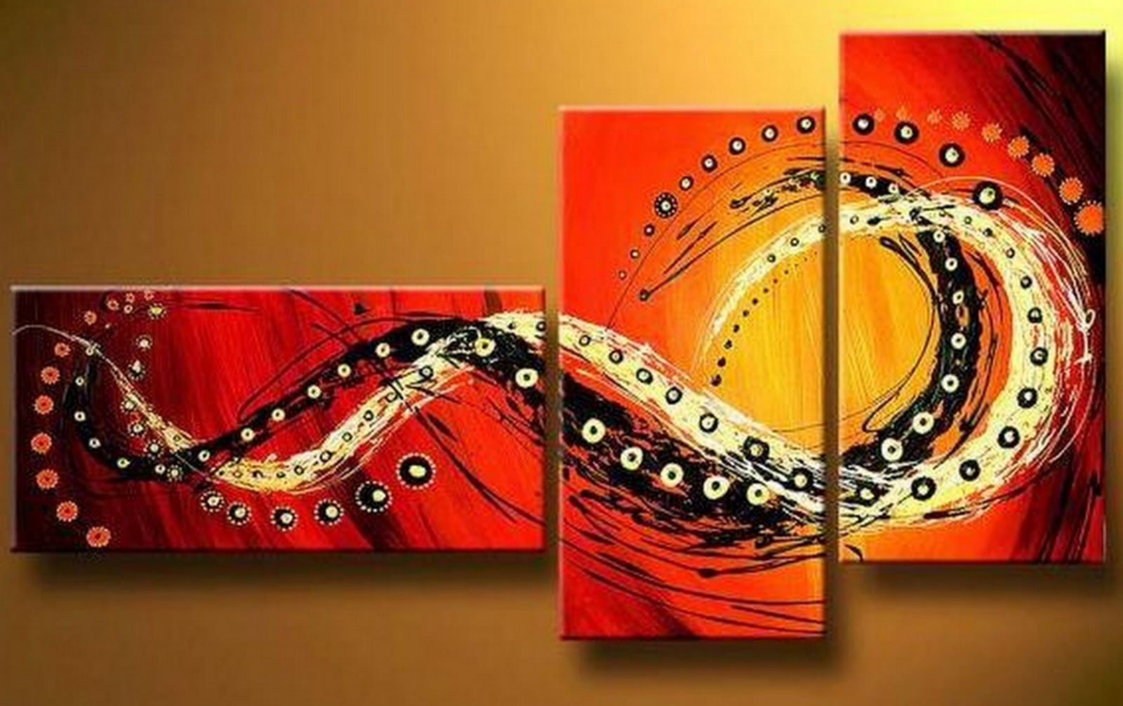 Cuadros pinturas oleos cuadros modernos abstractos - Triptico cuadros modernos ...