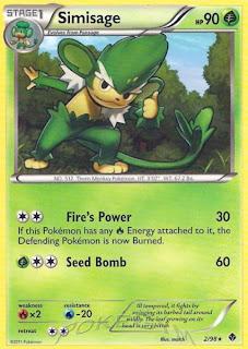 Simisage Pokemon Card Emerging Powers set