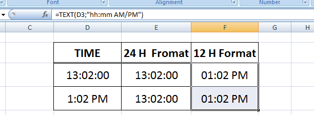 Converting excel time format, 24 to 12 hours vise versa - OA Ultimate