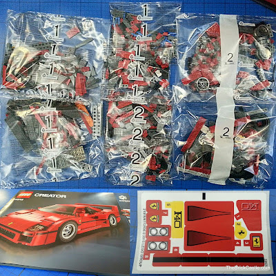 LEGO Ferrari F40 set 10248 bags stickers and booklet