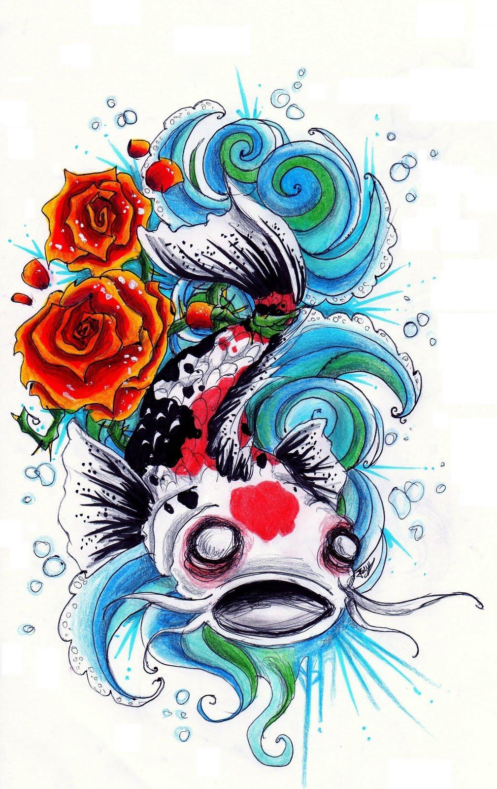 Koi fish splashing images for Koi fish design