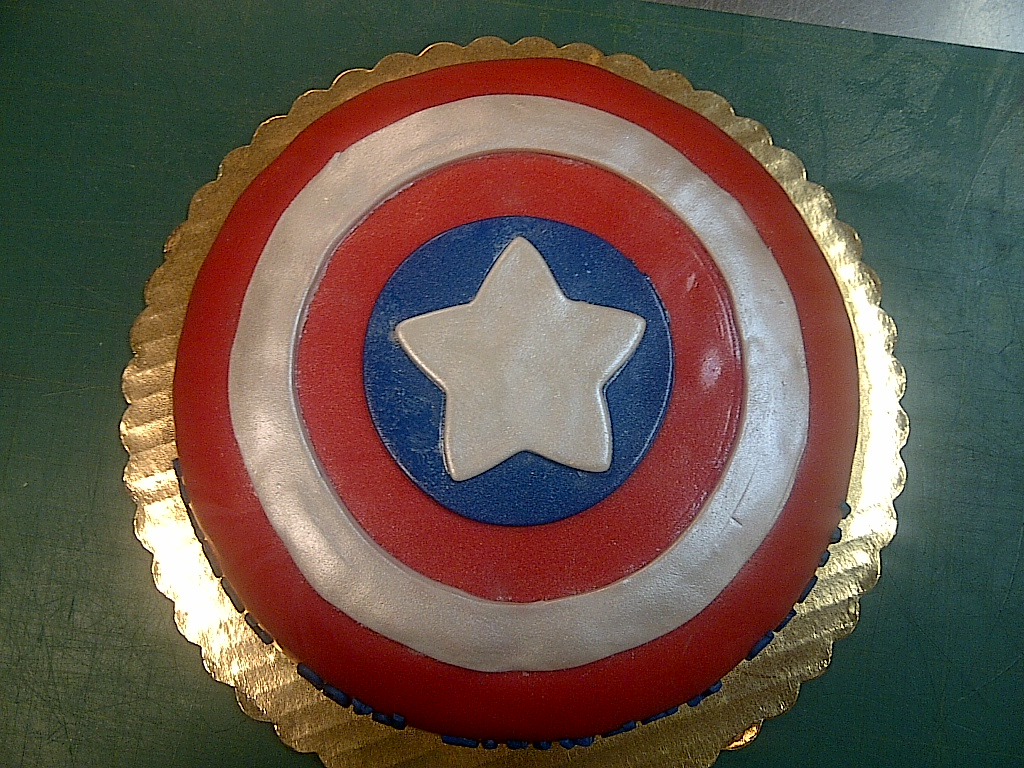 Cakes By Allie Captain America Shield Cake