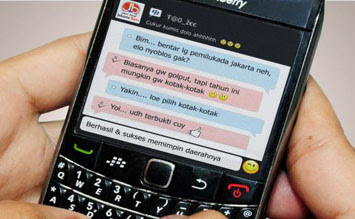 Huruf Unik Blackberry