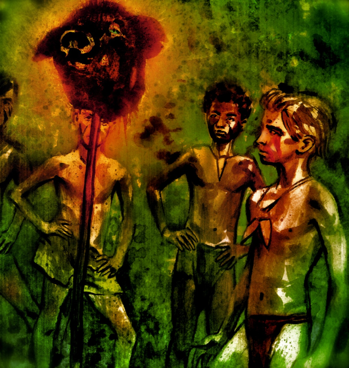lord of the flies savagery Harry hook directed this second screen adaptation of william golding's cult novel about a group of british schoolchildren who revert to savagery when marooned on a.
