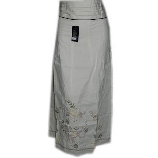 model rok panjang satin muslimah