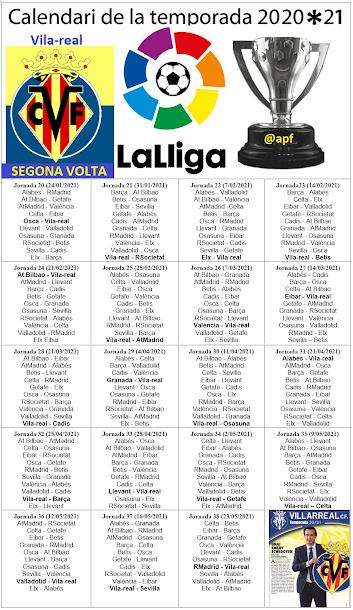 Calendari de Lliga 2020/21 (2ª volta)